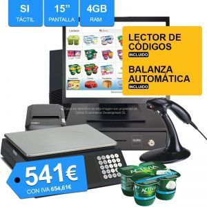 TPV para supermercados y fruterias con balanza tactil