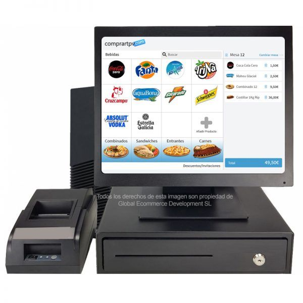 pack tpv tactil para bares y restaurantes