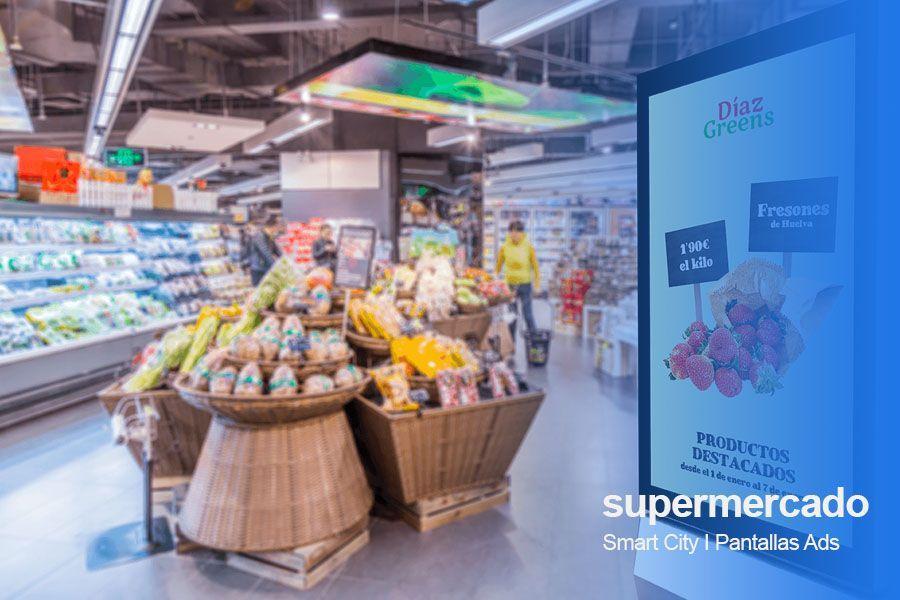 tpv supermercado pantallas publicitarias