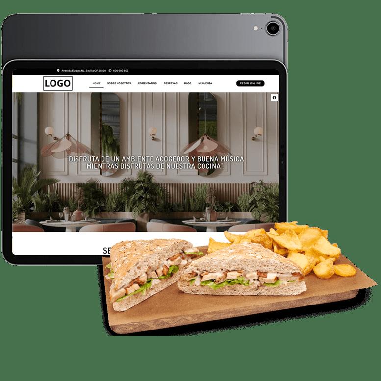 pagina web y carta virtual clienty tpv